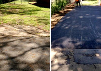 Brother's Paving, asphalt paving contractor, driveway asphalt, before and after